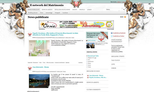Nostromatrimonio è un sito web di social bookmarking. Le notizie ed i  collegamenti sono proposte dagli sposi e dalle aziende del settore 6f47bc548fc9